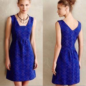 Anthropology Maeve Textured Jacquard Dress, 4